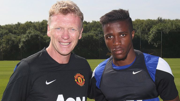 David Moyes and Wilfried Zaha: Settling into life at Old Trafford