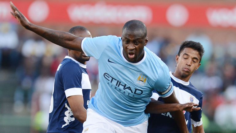 Yaya Toure: Left the field before the end of City's defeat