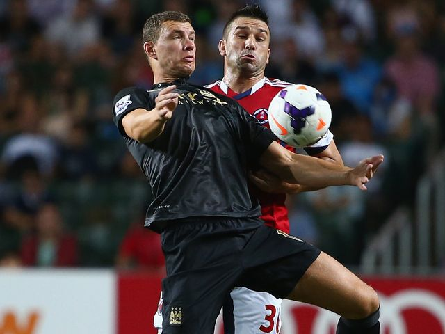 Edin Dzeko: Scored the only goal of the second semi-final