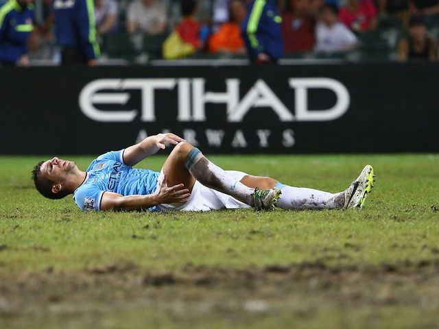 Matija Nastasic is injured in Hong Kong.