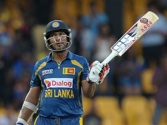 Kumar Sangakkara's century helped take Sri Lanka to victory