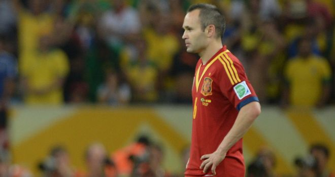 Andres Iniesta: Not happy with the referee