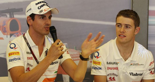 Sutil and Di Resta: Experiencing a difficult run of races