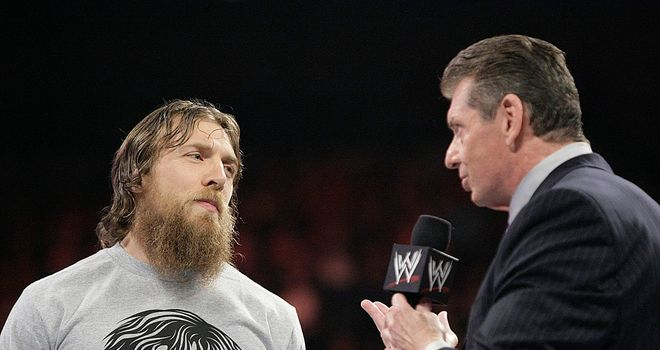 Bryan (L) evaded McMahon's attempts to shear his beard