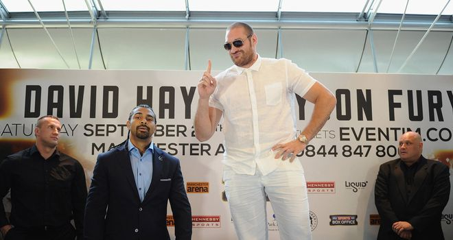 Tyson Fury: Hopes David Haye will prepare him for world title fight
