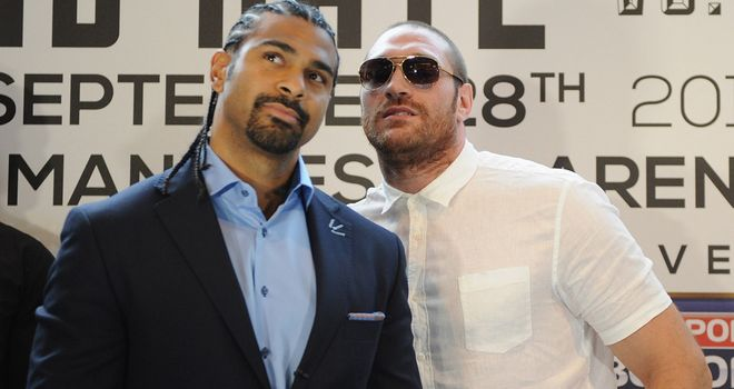 David Haye and Tyson Fury: Will now clash on February 8