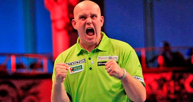 Van Gerwen: loves to see wizards in the crowd