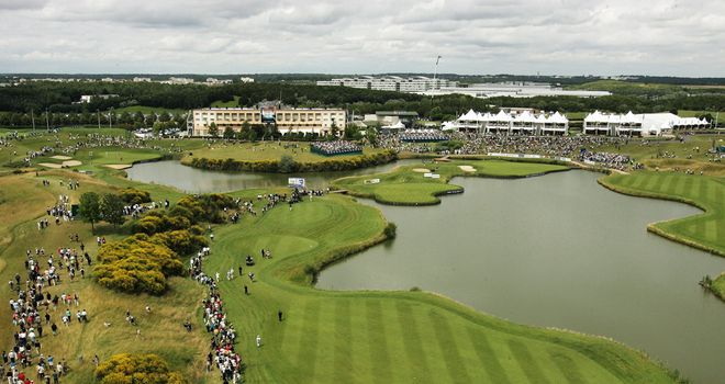 Views over the 15th and 18th holes at Le Golf National