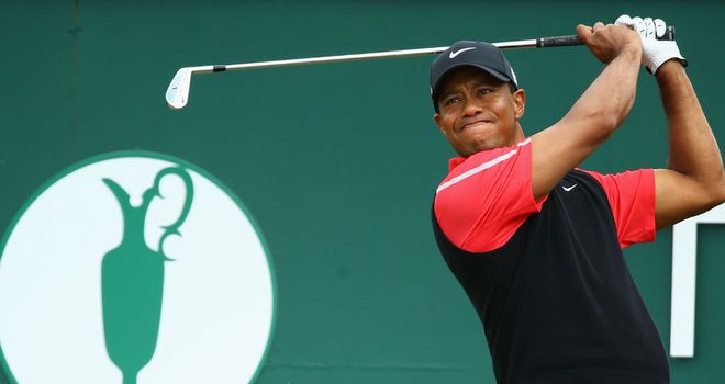 Woods: leads the Bridgestone by seven shots after day two heroics