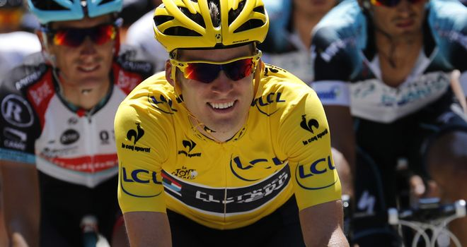Jan Bakelants in yellow, but now the Tour de France hero finds himself looking for a team