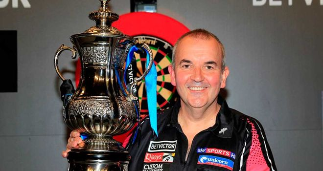 Phil Taylor: Just too good for Stoke rival Adrian Lewis