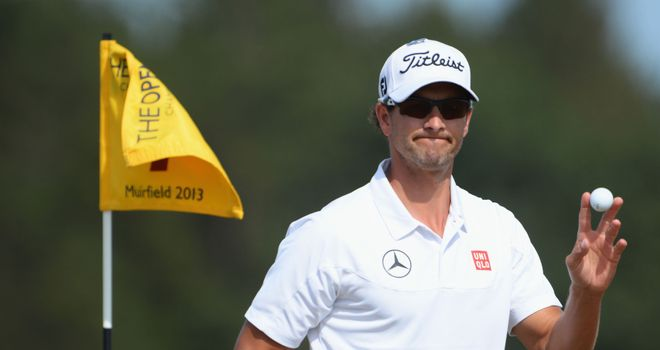 Adam Scott: Just three shots off the pace with 18 holes to play