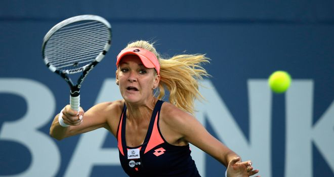 Agnieszka Radwanska: Will face Dominika Cibulkova for a second time in a WTA Tour final this year