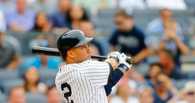 Derek Jeter: New York Yankees shortstop dispatched his first pitch into the stands