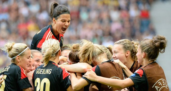 Germany celebrate a sixth successive Euro success in Sweden