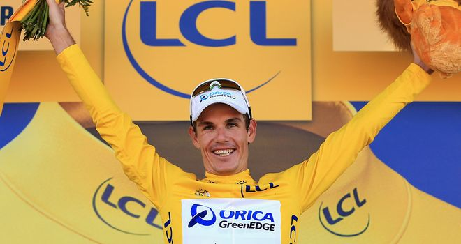 Daryl Impey finished five seconds ahead of previous leader Simon Gerrans