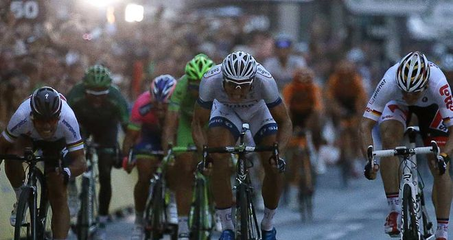 Marcel Kittel outsprinted Andre Greipel and Mark Cavendish in Paris