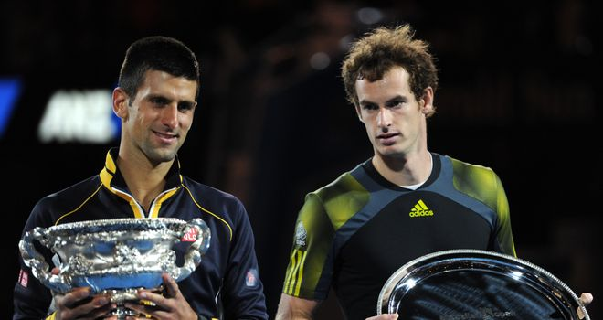 Novak Djokovic and Andy Murray after the 2013 Australian Open final