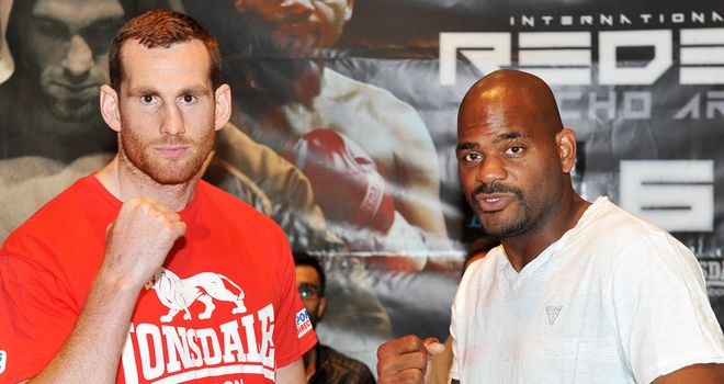 David Price (l): Does not expect to lose against Tony Thompson