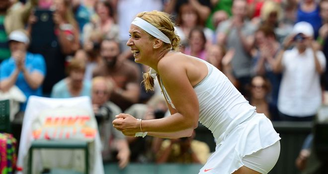 Sabine Lisicki is emotional following her victory over the worls No 1