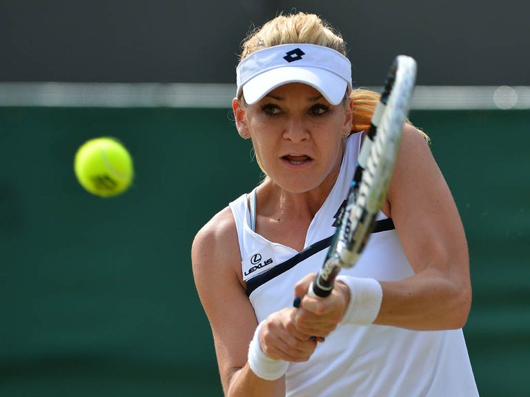 Radwanska: Came from a set down to defeat Pironkova