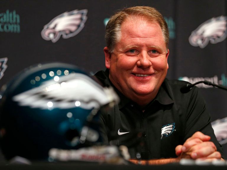 Chip Kelly spoke to the media as the Eagles training camp commenced