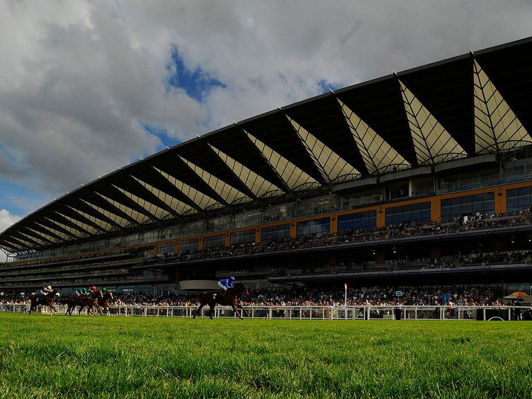 Dwarfed by the Ascot grandstand, Expressly records a first success for Charlie Appleby
