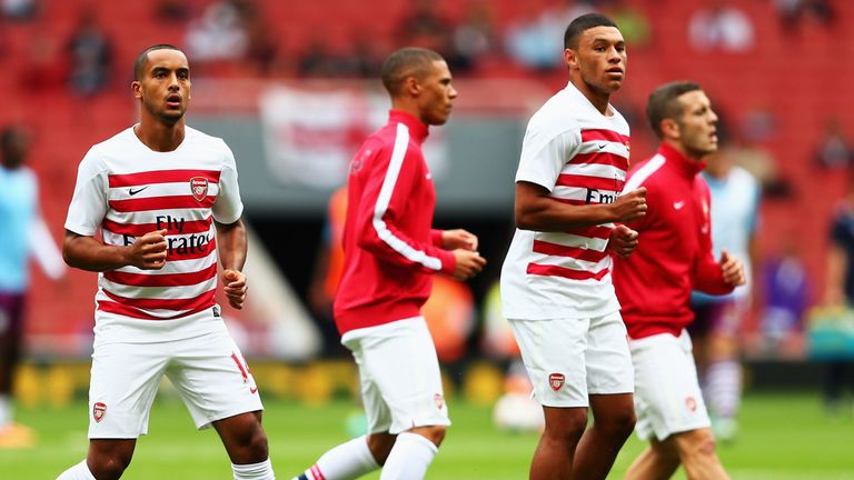 Theo Walcott was 16 when he joined Arsenal, while Alex Oxlade-Chamberlain was just a year older