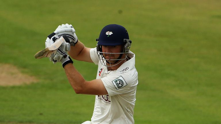 Adam Lyth: Fell just five runs short of a century for Yorkshire