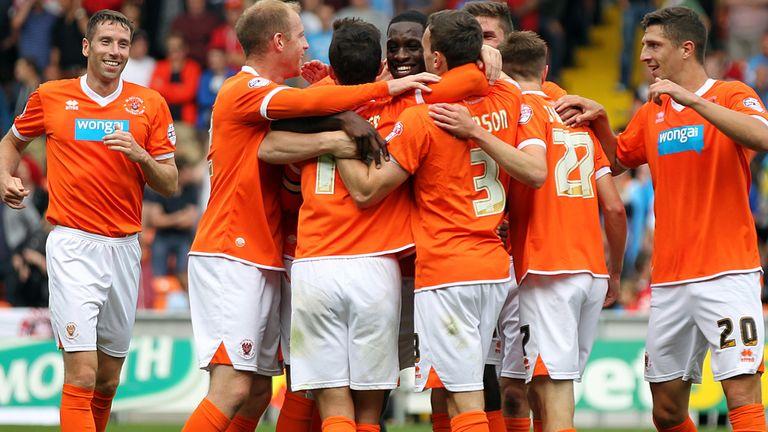Blackpool celebrate winning goal