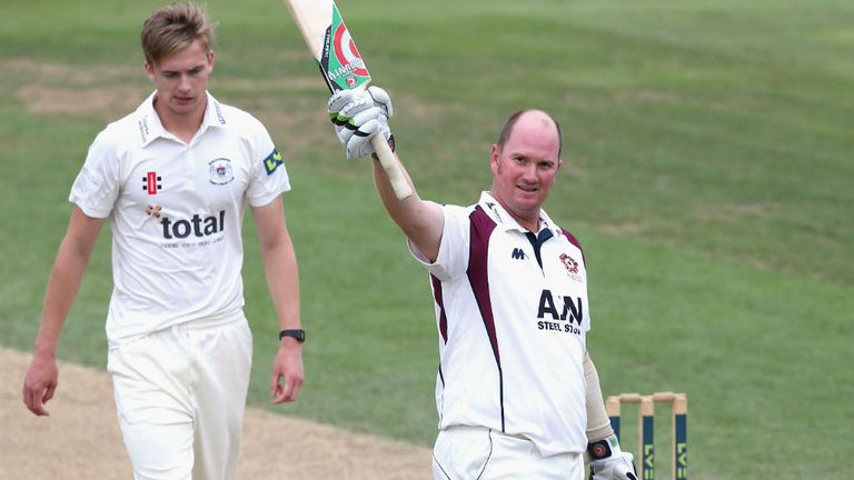 David Sales: Piled on the runs for Northamptonshire at day three