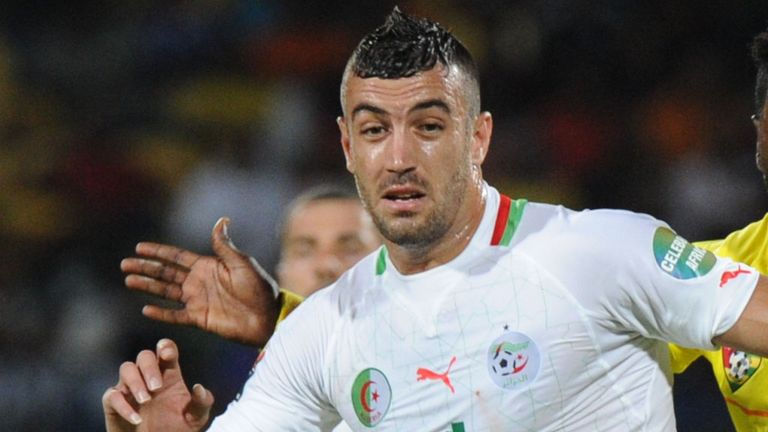 Essaid Belkalem playing against Togo during this year's African Cup of Nations