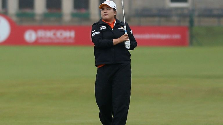 Inbee Park en route to carding a 69 at St Andrews on Thursday
