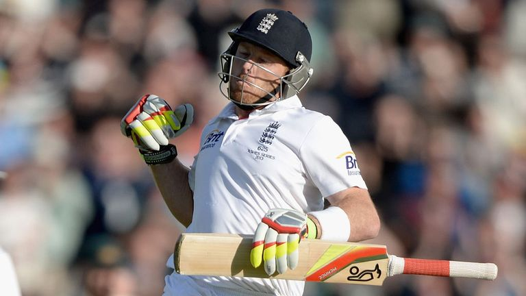 Ian Bell celebrates another Ashes hundred