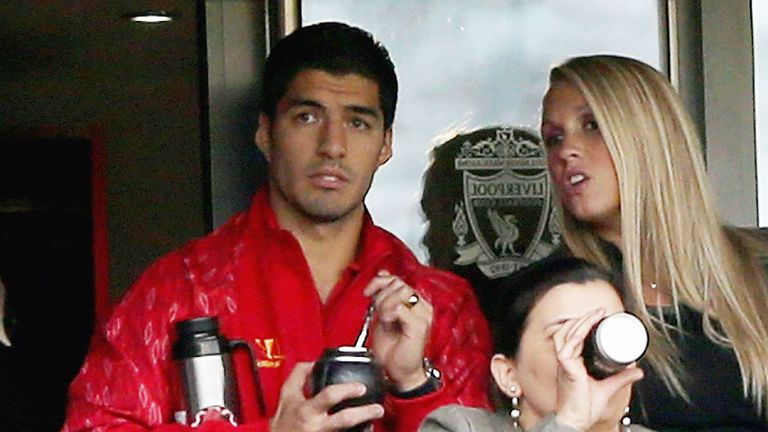 Luis Suarez had to watch Liverpool's Premier League opener from the stands