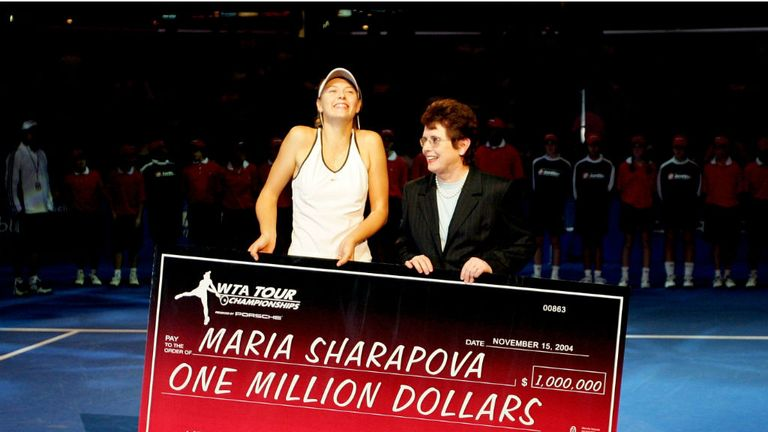 The creation of the WTA allowed female players to maximise their earning potential