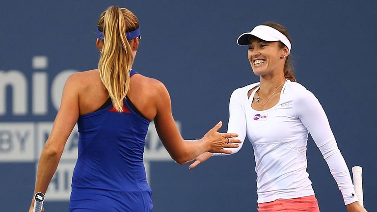 Martina Hingis: Back in action on the doubles court in Carlsbad