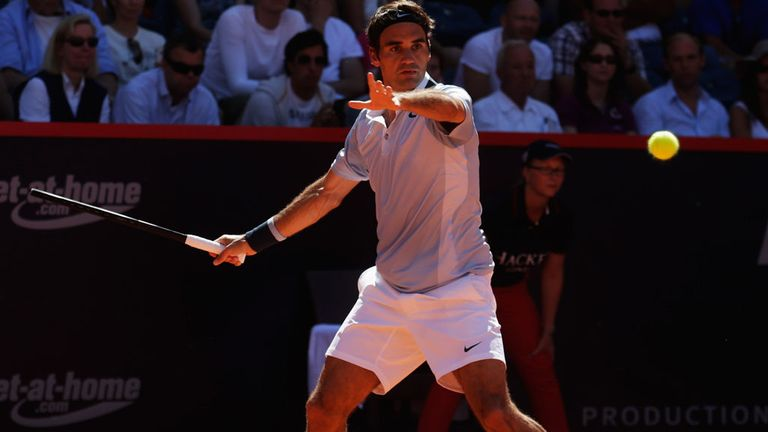 Roger Federer during a recent tournament in Hamburg