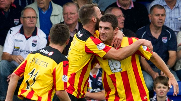 Tick-ing along nicely: Partick beat another Thistle, Inverness, in their last match