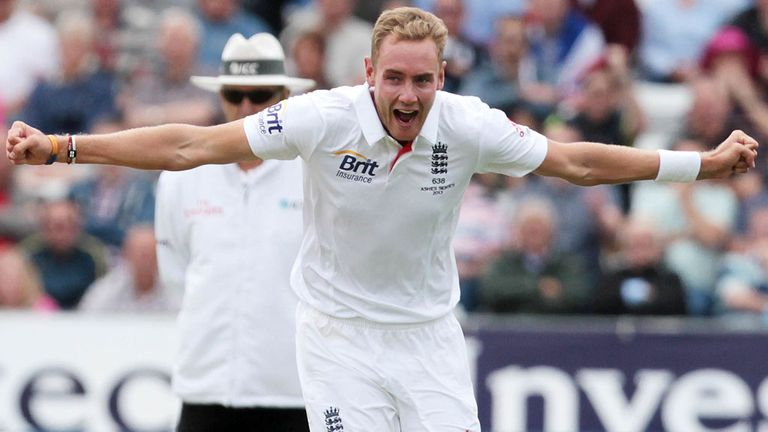 Stuart Broad: Took four wickets on day two in Durham