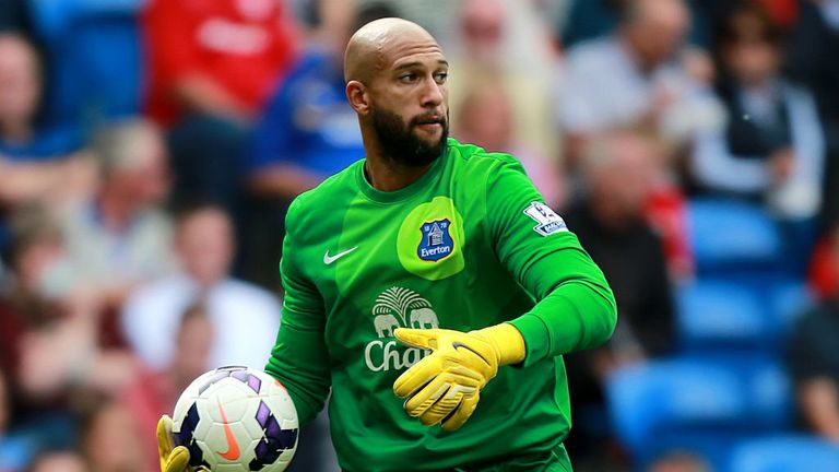 Tim Howard: Has impressed Roberto Martinez with his performances this season