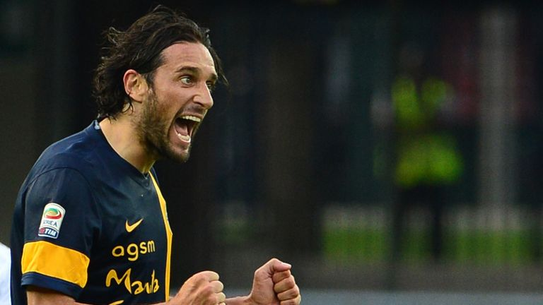 Luca Toni: The Hellas Verona striker says he plans to continue playing for as long as possible