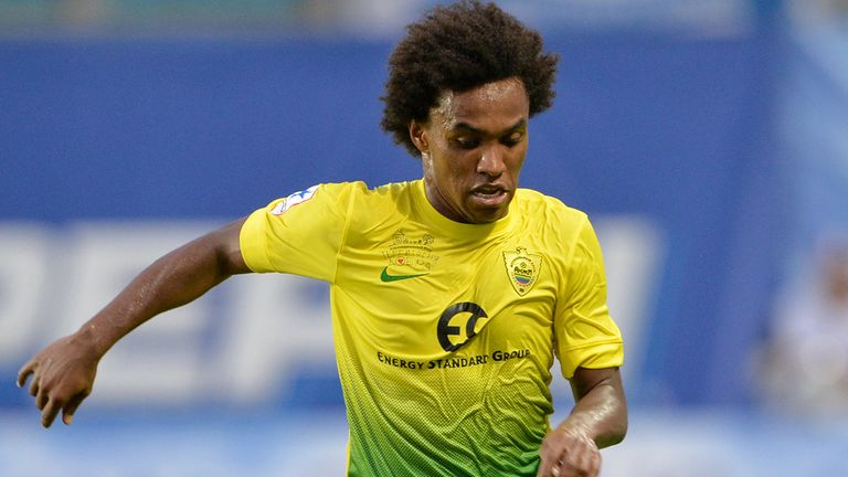 Willian: Looks set to leave Anzhi