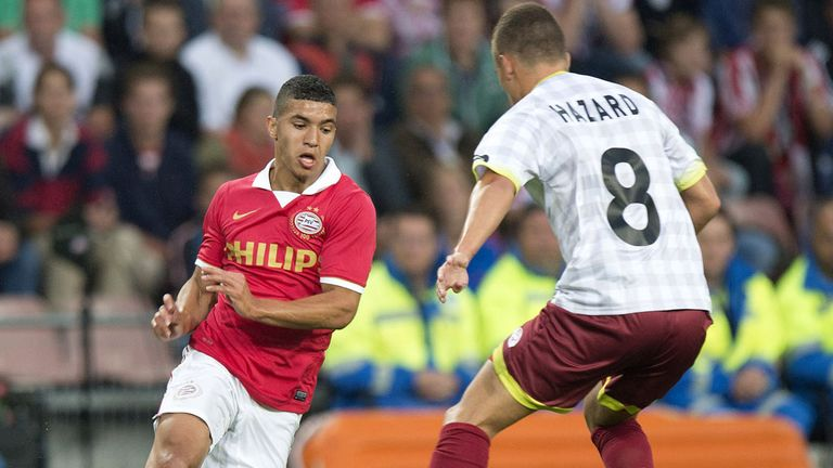 Zakaria Bakkali (l): Linked with a move away from PSV Eindhoven this summer