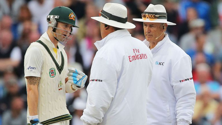 Michael Clarke: A heated conversation with the umpires