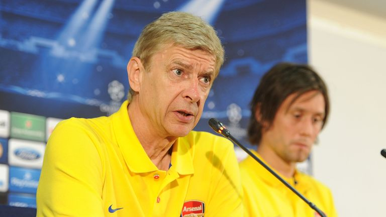 Arsene Wenger: Addressing the media in Istanbul on Tuesday