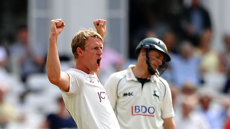 Steve Patterson: Runs and wickets for Yorkshire on day two at Trent Bridge