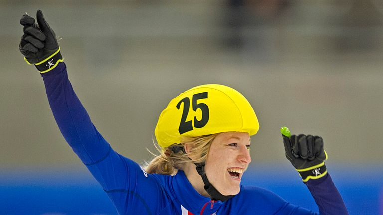 Elise Christie: Is set for the Winter Olympic qualifying events this month