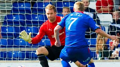 Lee Hollis: In action against Inverness