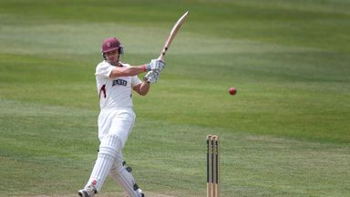 Nick Compton: His century helped save a draw for Somerset